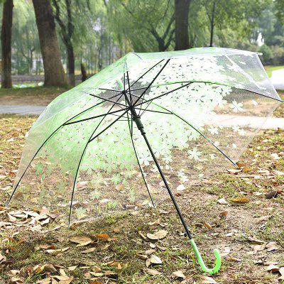 Transparent Unisex Creative Sakura Pattern Umbrella