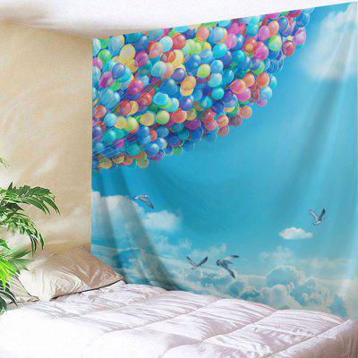 Sky Ballons Print Tapestry Wall Hanging Decor