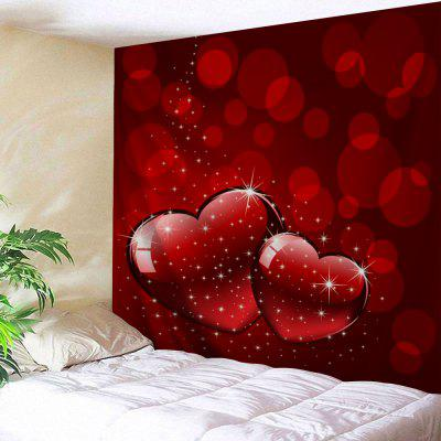 Valentine's Day Hearts Print Tapestry Wall Hanging
