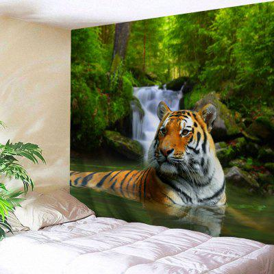 Forest Tiger Print Tapestry Wall Hanging Decor