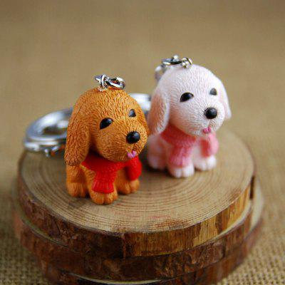 Boutique Scarf Dog Style Key Chain for Lovers 2PCS