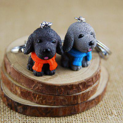 Scarf Dog Style Key Chain for Lovers 2PCS
