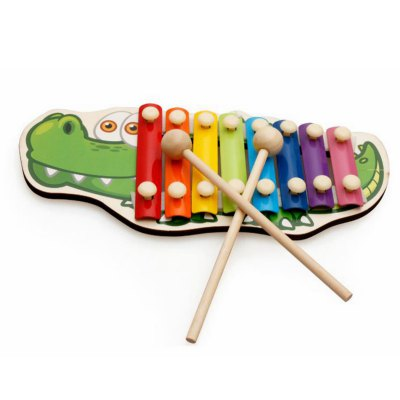Wooden Alligator Style Octachord for Children