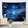 Universe Starry Sky Print Wall Tapestry - BLUE