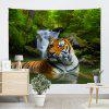 Forest Tiger Print Tapestry Wall Hanging Decor - COR MISTURA