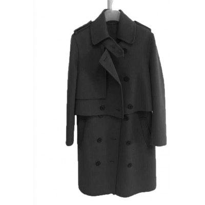 Two-piece Double-faced Woolen Coat