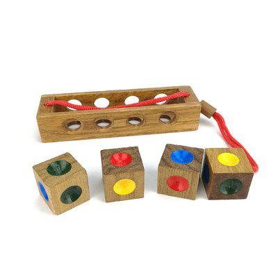 Wood Puzzle Toy Color Matching Chess