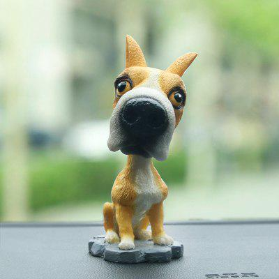 R - 8806 Simulation Resin Shaking Dog Decoration