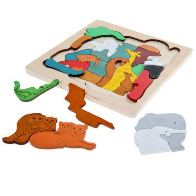 Educational Multideck 3D Wooden Animals Jigsaw Toy