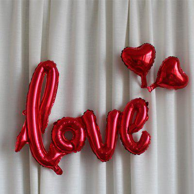XM Decorative Party Wedding Love Letter Foil BalloonOther holiday and party supplies<br>XM Decorative Party Wedding Love Letter Foil Balloon<br><br>Brand: XM<br>Package Contents: 1 x Foil Balloon<br>Package size (L x W x H): 25.00 x 25.00 x 5.00 cm / 9.84 x 9.84 x 1.97 inches<br>Package weight: 0.0200 kg<br>Product size (L x W x H): 108.00 x 64.00 x 10.00 cm / 42.52 x 25.2 x 3.94 inches<br>Product weight: 0.0160 kg