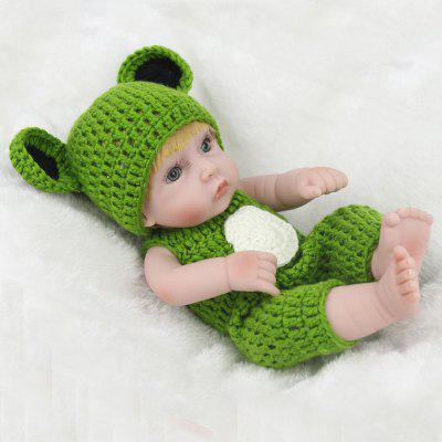 Simulation Soft Silicone Reborn Baby Girl Doll Frog Cloth Toy