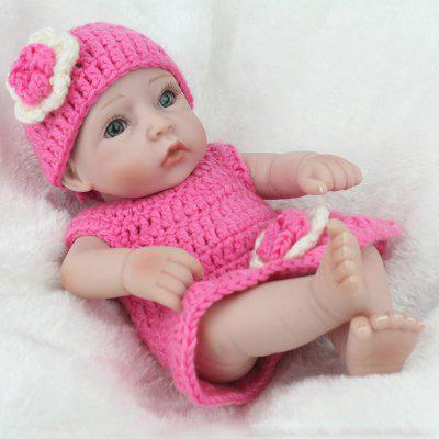 Simulation Soft Silicone Reborn Baby Girl Doll Toy