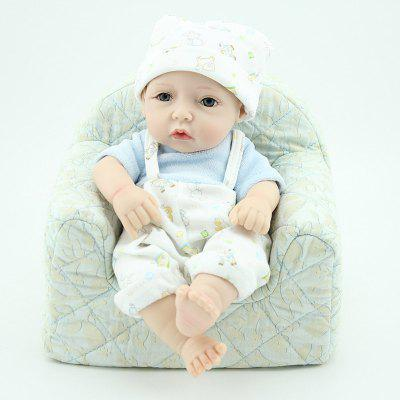 Lovely Reborn Doll in Suspender Trousers Silicone Toy