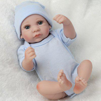 Reborn Doll Emulational Baby Boy Silicone Toy for Pretend Play