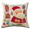 Christmas Flax Throw Pillow Case Square Decor Cushion Cover - COLORMIX