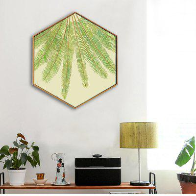 E - HOME Fresh Leaves Hexagon Print Framed Canvas Wall DecorPrints<br>E - HOME Fresh Leaves Hexagon Print Framed Canvas Wall Decor<br><br>Brand: E-HOME<br>Craft: Print<br>Form: One Panel<br>Material: Canvas<br>Package Contents: 1 x Print<br>Package size (L x W x H): 53.00 x 60.00 x 6.00 cm / 20.87 x 23.62 x 2.36 inches<br>Package weight: 1.5000 kg<br>Painting: Without Inner Frame<br>Product size (L x W x H): 48.00 x 55.00 x 3.00 cm / 18.9 x 21.65 x 1.18 inches<br>Product weight: 0.9200 kg<br>Shape: Any Shape<br>Style: Modern<br>Subjects: Others<br>Suitable Space: Bedroom,Cafes,Corridor,Dining Room,Game Room,Hotel,Kids Room,Living Room