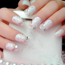 XM White Star Sky Manicure Nail Sticker 10pcs