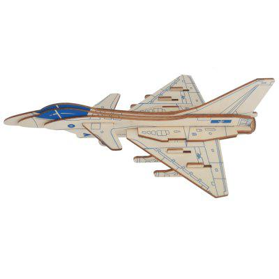 3D DIY J - 10 Fighter Airplane Model Jigsaw Puzzle Toy