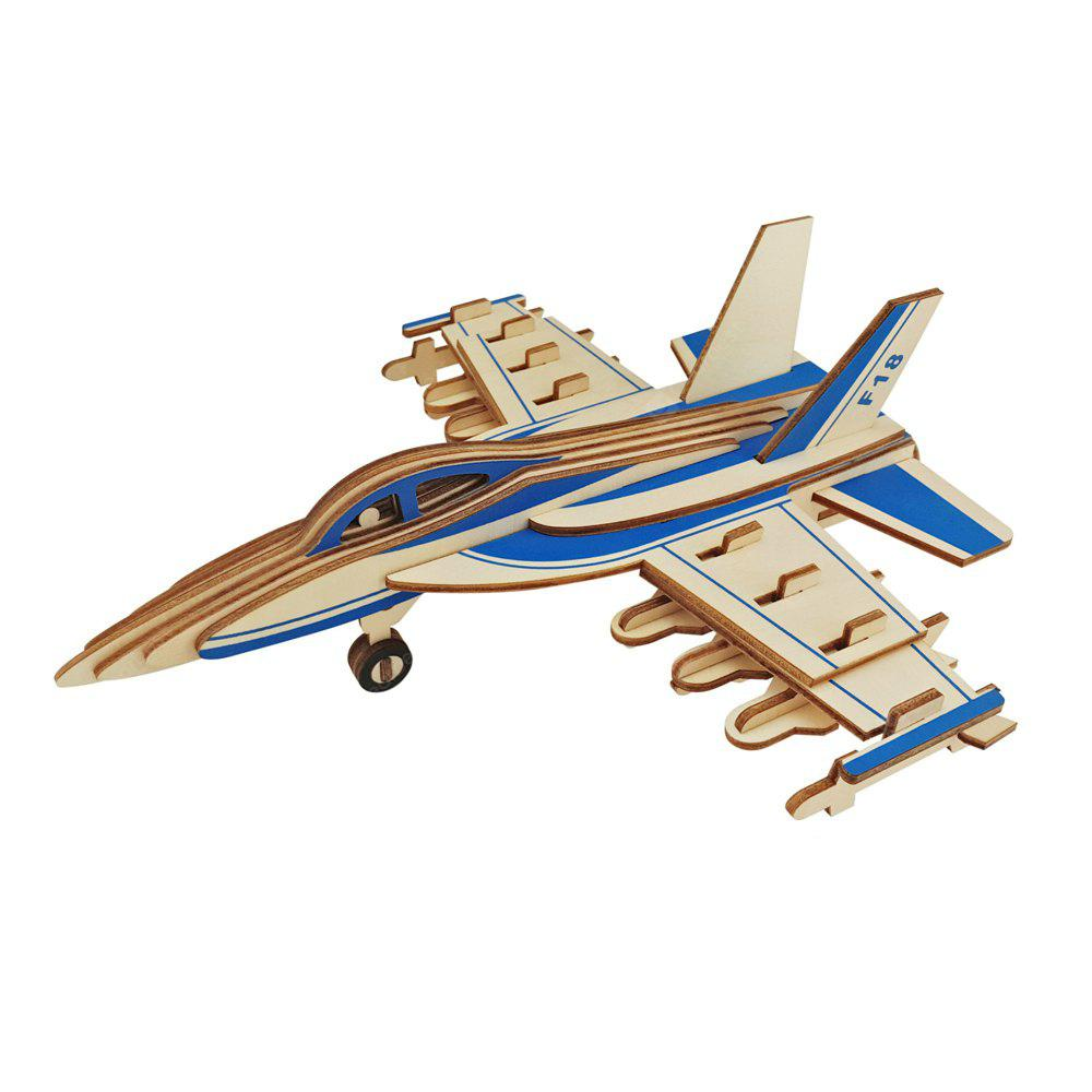 3D DIY F - 18 Fighter Airplane Model Jigsaw Puzzle Toy