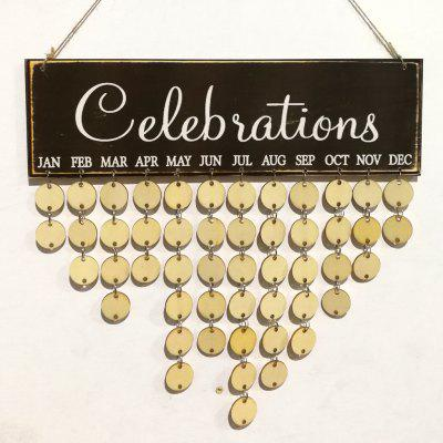 DIY Wooden Celebrations Birthday Calendar Reminder Board