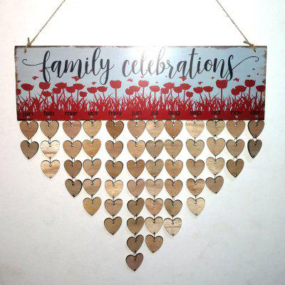 DIY Wooden Family Celebrations Birthday Calendar Reminder Board
