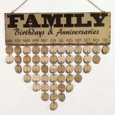 DIY Wooden Family Anniversaries and Birthday Calendar Reminder Board