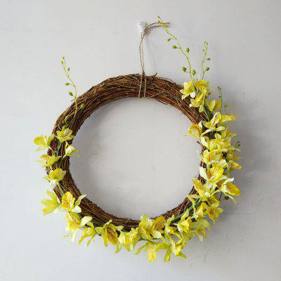 Buy LmDec Decorative Artificial Phalaenopsis Garland YELLOW for $15.63 in GearBest store