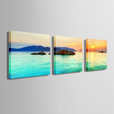 E - HOME Amazing Seascape Pattern Print Canvas Wall Decor 3pcsPrints<br>E - HOME Amazing Seascape Pattern Print Canvas Wall Decor 3pcs<br><br>Brand: E-HOME<br>Craft: Print<br>Form: Three Panels<br>Material: Canvas<br>Package Contents: 3 x Print<br>Package size (L x W x H): 60.00 x 5.00 x 5.00 cm / 23.62 x 1.97 x 1.97 inches<br>Package weight: 0.4000 kg<br>Painting: Without Inner Frame<br>Product size (L x W x H): 50.00 x 50.00 x 0.20 cm / 19.69 x 19.69 x 0.08 inches<br>Product weight: 0.2400 kg<br>Shape: Square<br>Style: Beautiful, Amazing<br>Subjects: Seascape<br>Suitable Space: Bedroom,Cafes,Corridor,Dining Room,Hotel,Kids Room,Living Room,Study Room / Office