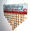 DIY Wooden Family Celebrations Birthday Calendar Reminder Board - HEART