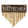Love Heart Wooden DIY Family Birthday Calendar Reminder Board - HEART