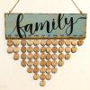 DIY Wooden Family Birthday Calendar Reminder Board Wall Hanging - ROUND