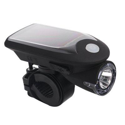 Solar USB Rechargeable 360-degree Rotating Bike Front LightBike Lights<br>Solar USB Rechargeable 360-degree Rotating Bike Front Light<br><br>Package Contents: 1 x Light, 1 x USB Cable, 1 x Light Stand<br>Package Dimension: 12.00 x 12.00 x 8.00 cm / 4.72 x 4.72 x 3.15 inches<br>Package weight: 0.1500 kg<br>Product Dimension: 10.00 x 5.00 x 4.50 cm / 3.94 x 1.97 x 1.77 inches<br>Product weight: 0.1000 kg<br>Suitable for: Road Bike<br>Type: Front Light