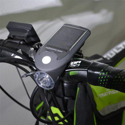 Solar USB Rechargeable 360-degree Rotating Bike Front Light