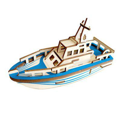 3D Wooden DIY Lifeboat Puzzle Toy