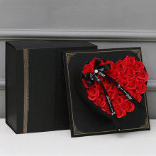 XM Romantic Creative Valentine 26 Soap Flowers Bandbox