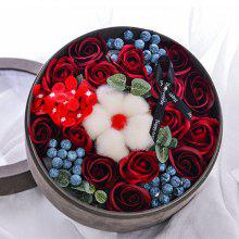 XM Romantic Valentine Soap Flowers Berries Lint Box