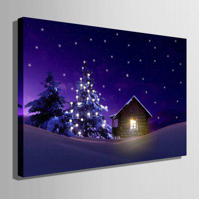 E - HOME Wood Cabin Design Print LED Luminous Canvas DecorPrints<br>E - HOME Wood Cabin Design Print LED Luminous Canvas Decor<br><br>Brand: E-HOME<br>Craft: Print<br>Form: One Panel<br>Material: Canvas<br>Package Contents: 1 x Print<br>Package size (L x W x H): 75.00 x 55.00 x 6.00 cm / 29.53 x 21.65 x 2.36 inches<br>Package weight: 1.5000 kg<br>Painting: Without Inner Frame<br>Product size (L x W x H): 70.00 x 50.00 x 2.40 cm / 27.56 x 19.69 x 0.94 inches<br>Product weight: 1.2000 kg<br>Shape: Horizontal<br>Style: Modern, Beautiful<br>Subjects: Still Life<br>Suitable Space: Bedroom,Cafes,Corridor,Dining Room,Game Room,Hotel,Kids Room,Living Room