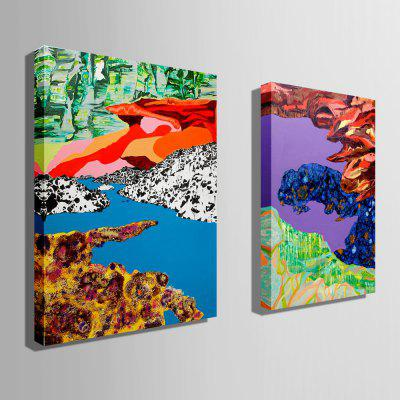 E - HOME Fantasy Scenery Print Canvas Artwork Wall Decor 2pcsPrints<br>E - HOME Fantasy Scenery Print Canvas Artwork Wall Decor 2pcs<br><br>Brand: E-HOME<br>Craft: Print<br>Form: Two Panels<br>Material: Canvas<br>Package Contents: 2 x Print<br>Package size (L x W x H): 45.00 x 5.00 x 5.00 cm / 17.72 x 1.97 x 1.97 inches<br>Package weight: 0.2300 kg<br>Painting: Without Inner Frame<br>Product size (L x W x H): 35.00 x 50.00 x 0.20 cm / 13.78 x 19.69 x 0.08 inches<br>Product weight: 0.1200 kg<br>Shape: Vertical<br>Style: Scenery / Landscape, Modern<br>Subjects: Fantasy<br>Suitable Space: Bedroom,Cafes,Corridor,Dining Room,Hotel,Living Room,Study Room / Office