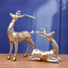 MCYH BJ45 Sika Deer Couple Shape Home Decoration 2PCS