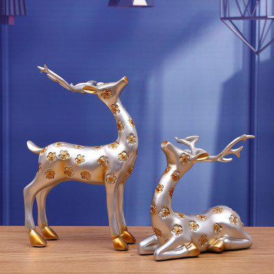 MCYH BJ45 Sika Deer Couple Shape Home Decoration 2PCSCrafts<br>MCYH BJ45 Sika Deer Couple Shape Home Decoration 2PCS<br><br>Brand: MCYH<br>Material: Resin<br>Package Contents: 2 x Deer Shape Decoration<br>Package size (L x W x H): 23.00 x 13.00 x 33.00 cm / 9.06 x 5.12 x 12.99 inches<br>Package weight: 2.2000 kg<br>Product weight: 2.1000 kg<br>Subjects: Animal