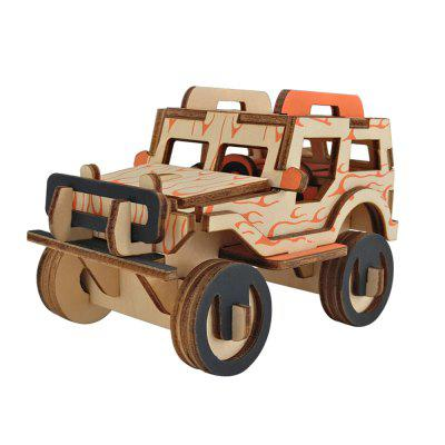 3D Holz DIY Jeep Style Puzzle Spielzeug