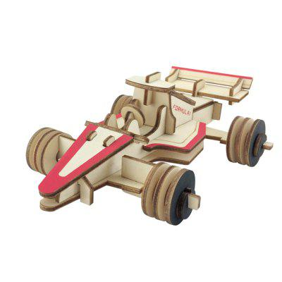 3D Wooden Car Style DIY Puzzle Toy