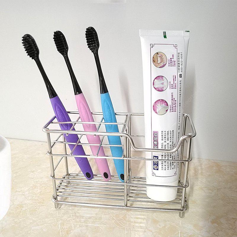 Stainless Steel Toothbrush Toothpaste Shaver Storage Rack