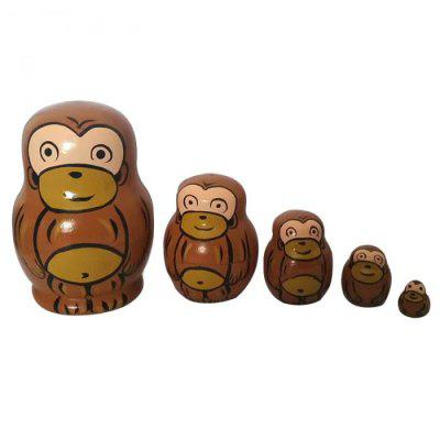 WUIBN Russian Nesting Matryoshka Dolls Kids Toy 5pcs