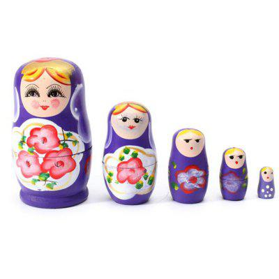 WUIBN Russian Nesting Matryoshka Dolls Toy Decoration 5pcs