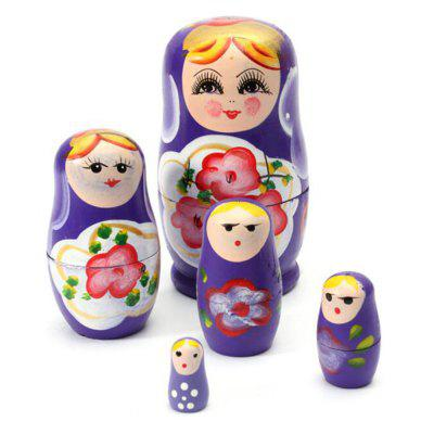 WUIBN Russian Nesting Matryoshka Dolls Toy Decoration 5pcsMovies &amp; TV Action Figures<br>WUIBN Russian Nesting Matryoshka Dolls Toy Decoration 5pcs<br><br>Brand: WUIBN<br>Completeness: Finished Goods<br>Gender: Unisex<br>Materials: Wood<br>Package Contents: 5 x Nesting Doll<br>Package size: 7.00 x 7.00 x 12.00 cm / 2.76 x 2.76 x 4.72 inches<br>Package weight: 0.1540 kg<br>Product size: 6.50 x 6.50 x 11.00 cm / 2.56 x 2.56 x 4.33 inches<br>Product weight: 0.1500 kg<br>Stem From: Other<br>Theme: Other