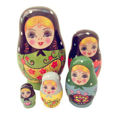 WUIBN Russian Nesting Matryoshka Doll Girl Toy Gift Decoration 5pcsMovies &amp; TV Action Figures<br>WUIBN Russian Nesting Matryoshka Doll Girl Toy Gift Decoration 5pcs<br><br>Brand: WUIBN<br>Completeness: Finished Goods<br>Gender: Unisex<br>Materials: Wood<br>Package Contents: 5 x Nesting Doll<br>Package size: 6.30 x 6.30 x 12.30 cm / 2.48 x 2.48 x 4.84 inches<br>Package weight: 0.2300 kg<br>Product size: 6.00 x 6.00 x 12.00 cm / 2.36 x 2.36 x 4.72 inches<br>Product weight: 0.2100 kg<br>Stem From: Other<br>Theme: Other