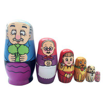 WUIBN Six Layers Russian Nesting Muñecas Matryoshka Regalo