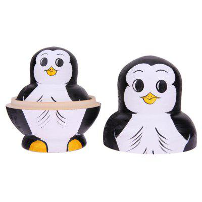 WUIBN Ten Layers Penguin Russian Nesting Matryoshka Doll DecorationMovies &amp; TV Action Figures<br>WUIBN Ten Layers Penguin Russian Nesting Matryoshka Doll Decoration<br><br>Brand: WUIBN<br>Completeness: Finished Goods<br>Gender: Unisex<br>Materials: Wood<br>Package Contents: 1 x Toy Set<br>Package size: 7.80 x 7.80 x 14.30 cm / 3.07 x 3.07 x 5.63 inches<br>Package weight: 0.3400 kg<br>Product size: 7.50 x 7.50 x 14.00 cm / 2.95 x 2.95 x 5.51 inches<br>Product weight: 0.3200 kg<br>Stem From: Other<br>Theme: Animals