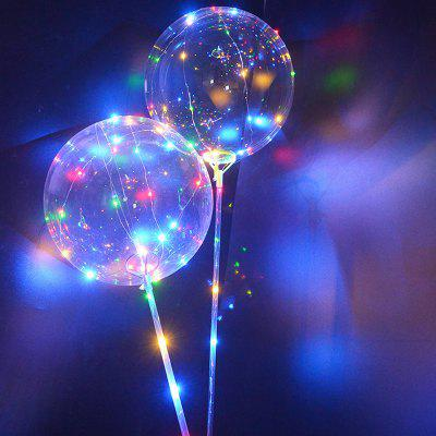 18 inch Transparent Ball with Colorful LED String Light 1pc